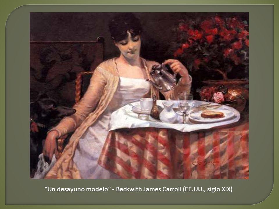 Un desayuno modelo - Beckwith James Carroll (EE.UU., siglo XIX)