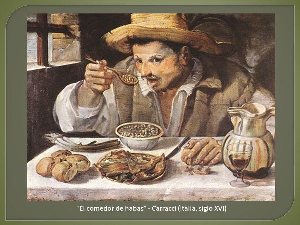 El comedor de habas - Carracci (Italia, siglo XVI)