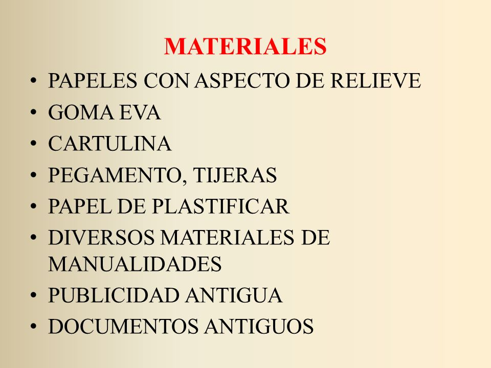 MATERIALES PAPELES CON ASPECTO DE RELIEVE GOMA EVA CARTULINA