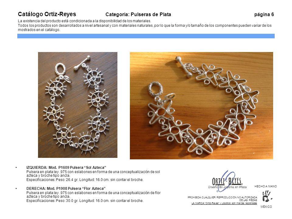 Catálogo Ortiz-Reyes. Categoría: Pulseras de Plata