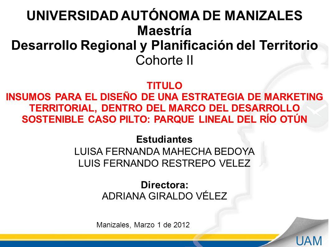 UNIVERSIDAD AUTÓNOMA DE MANIZALES Maestría