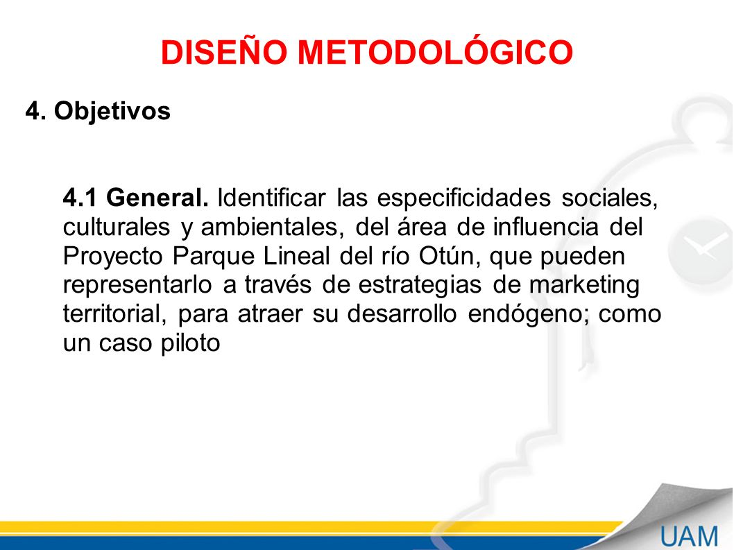 DISEÑO METODOLÓGICO 4. Objetivos