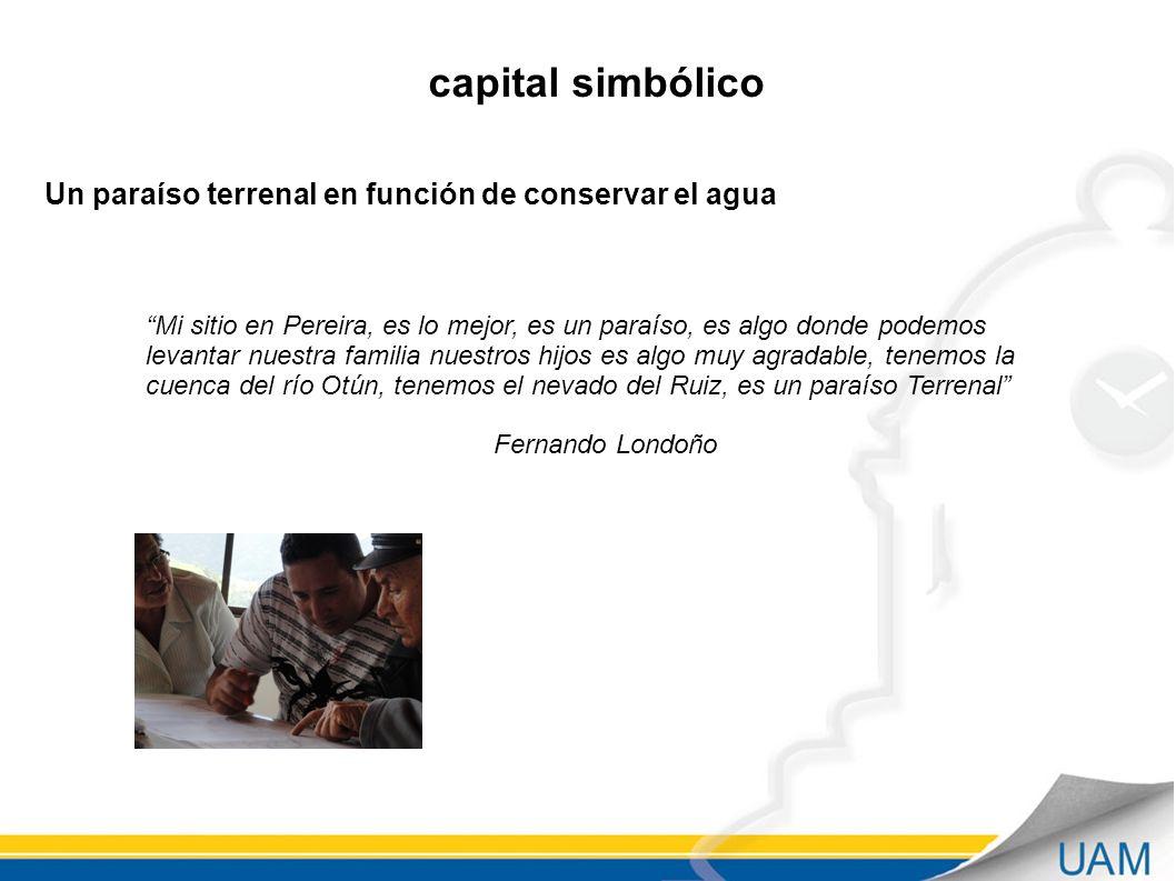 capital simbólico Un paraíso terrenal en función de conservar el agua