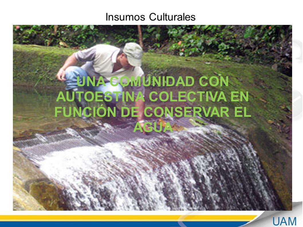 UNA COMUNIDAD CON AUTOESTINA COLECTIVA EN FUNCIÓN DE CONSERVAR EL AGUA