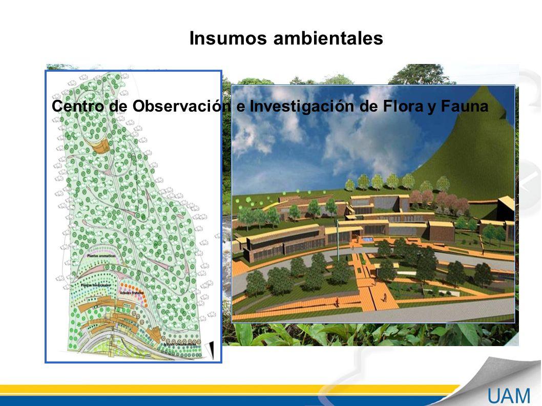 Insumos ambientales Centro de Observación e Investigación de Flora y Fauna