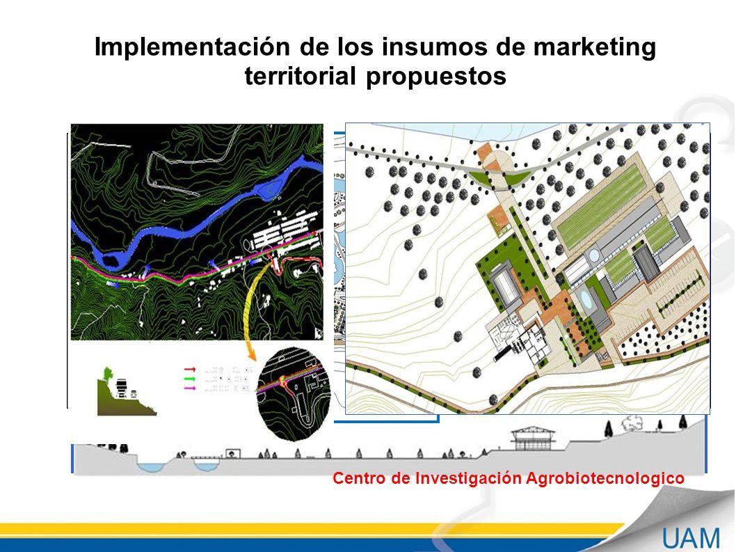 Implementación de los insumos de marketing territorial propuestos