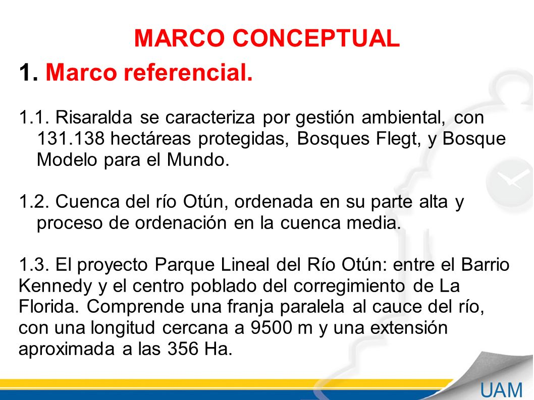 MARCO CONCEPTUAL Marco referencial.
