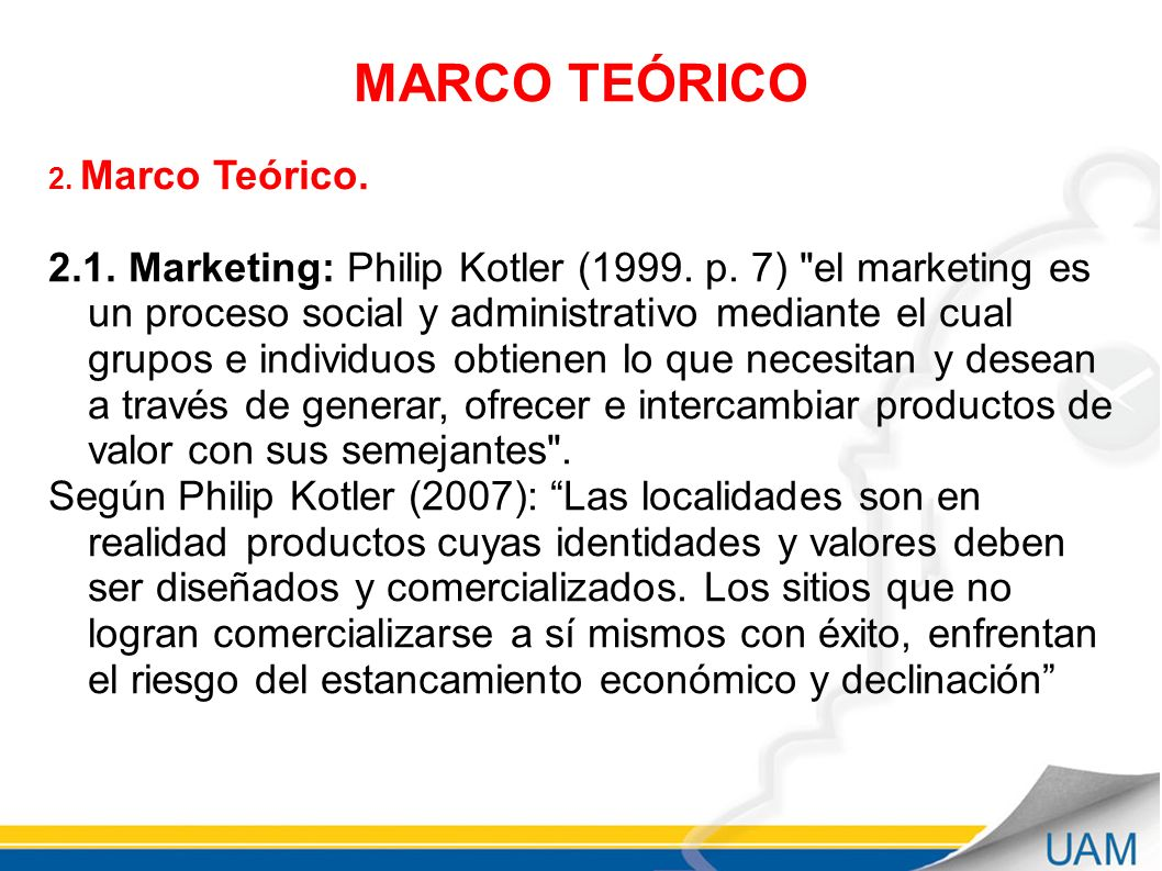 MARCO TEÓRICO 2. Marco Teórico.