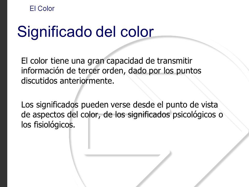 El Color Significado del color.
