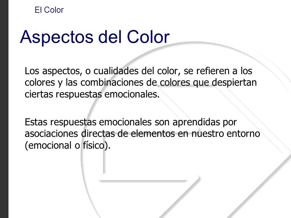 El Color Aspectos del Color.