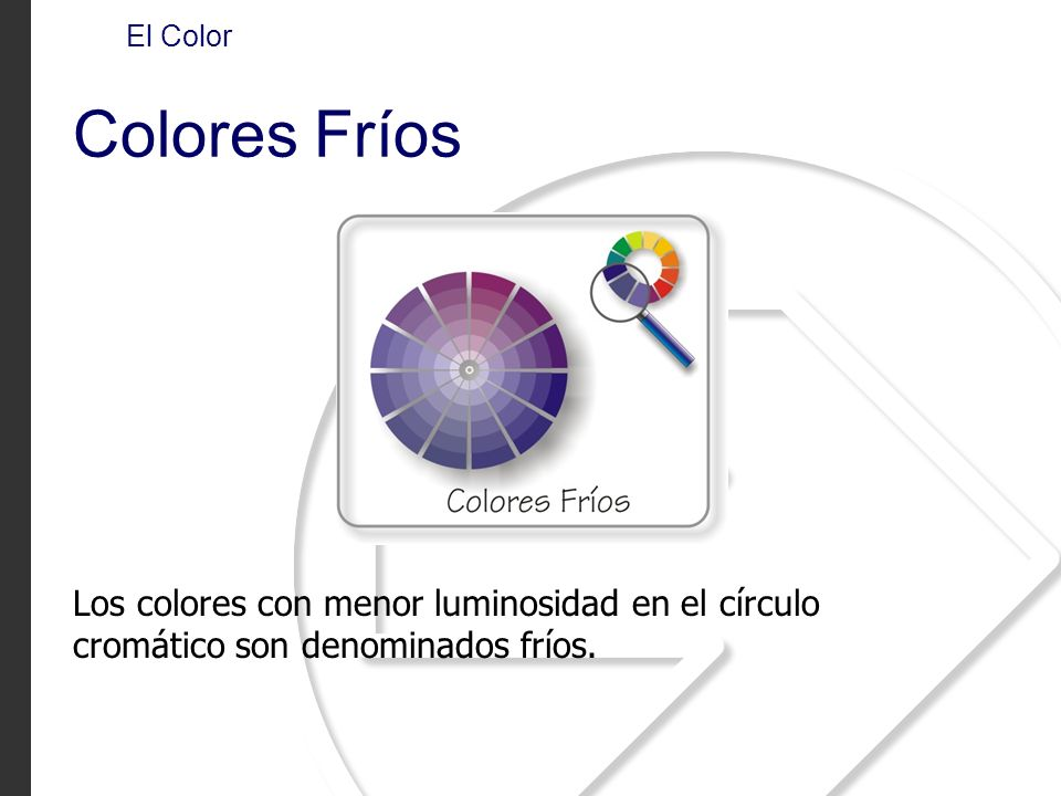 El Color Colores Fríos.