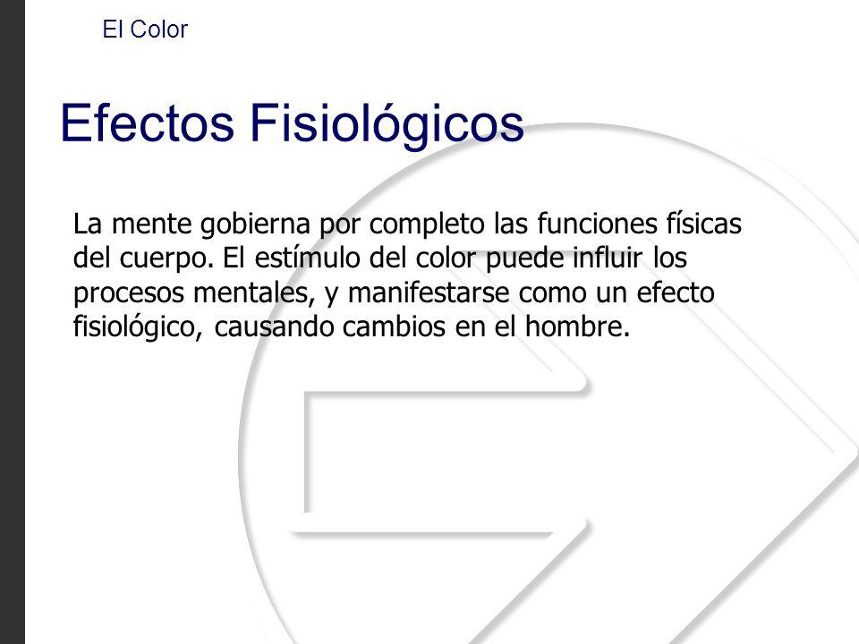 El Color Efectos Fisiológicos.