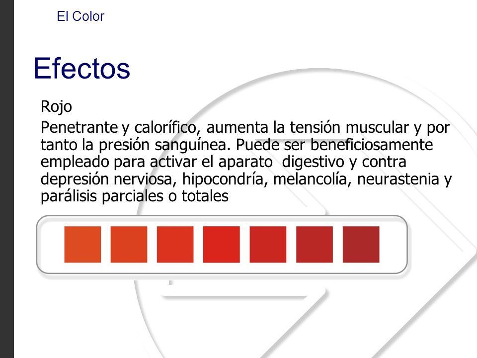 El Color Efectos. Rojo.