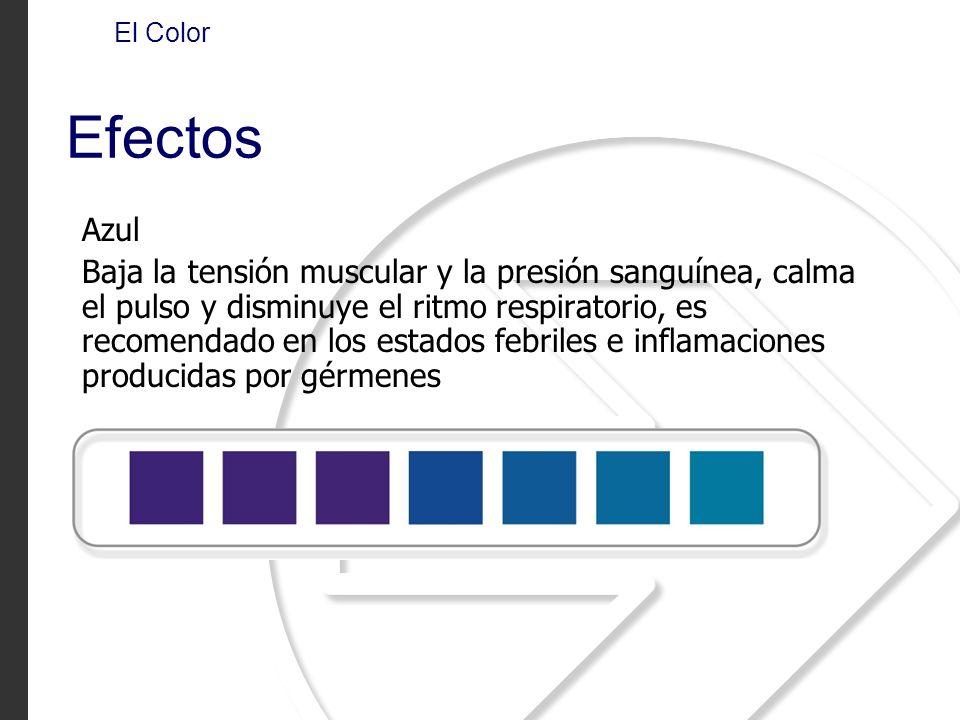 El Color Efectos. Azul.