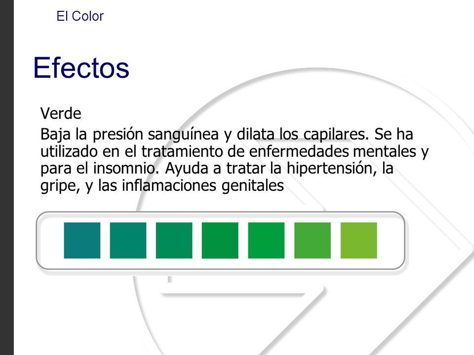 El Color Efectos. Verde.