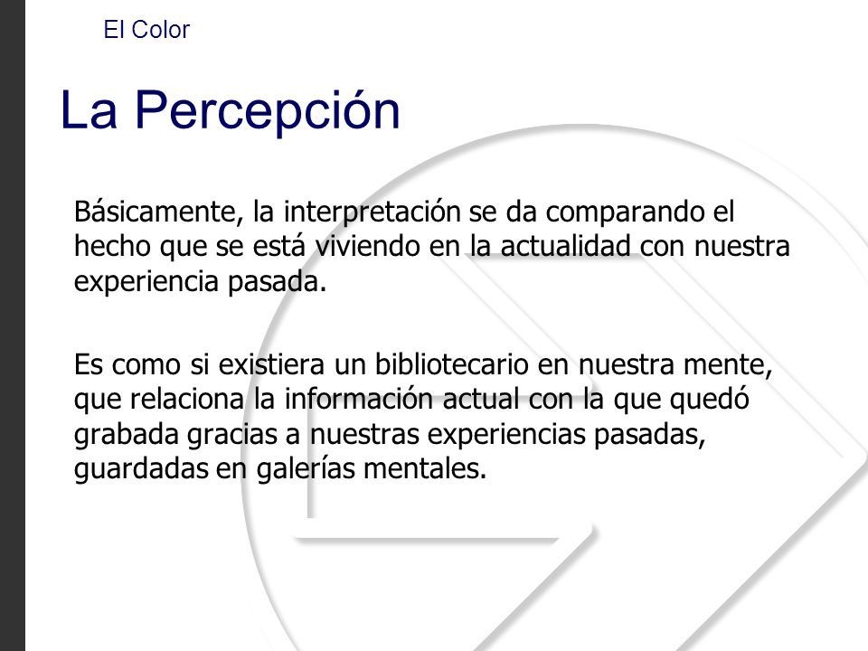 El Color La Percepción.