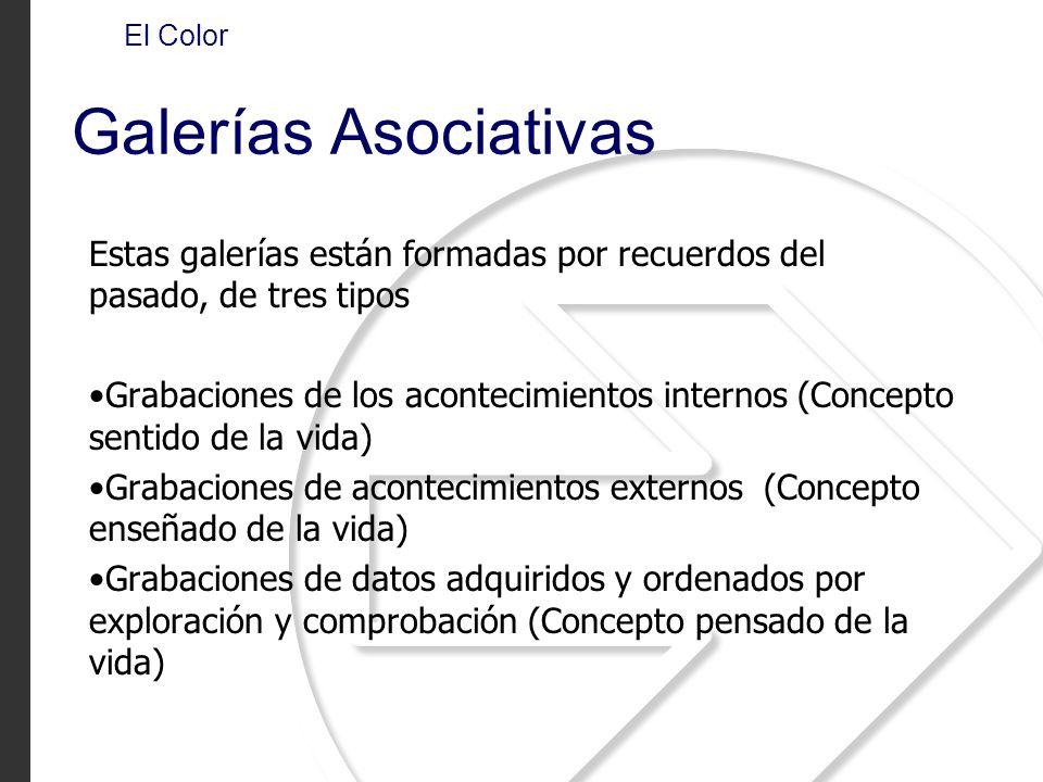 El Color Galerías Asociativas. Estas galerías están formadas por recuerdos del pasado, de tres tipos.