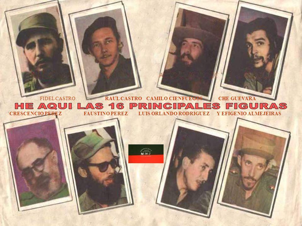 HE AQUI LAS 16 PRINCIPALES FIGURAS