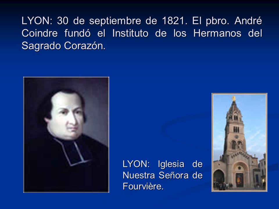 LYON: 30 de septiembre de 1821. El pbro