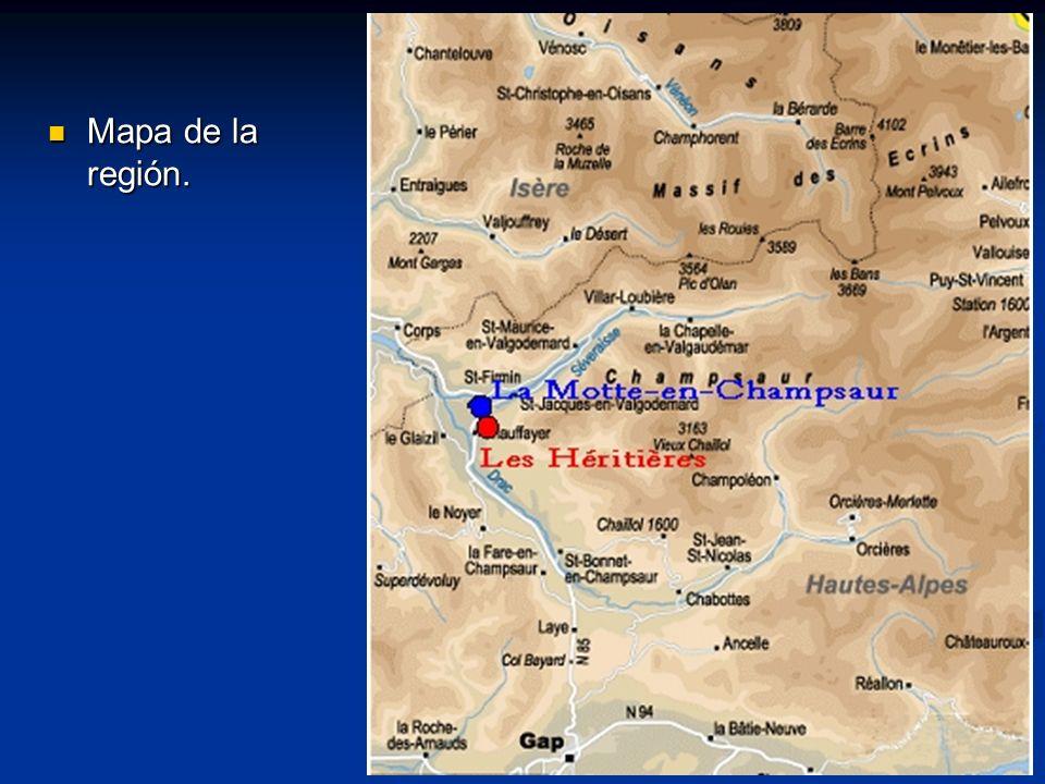Mapa de la región.