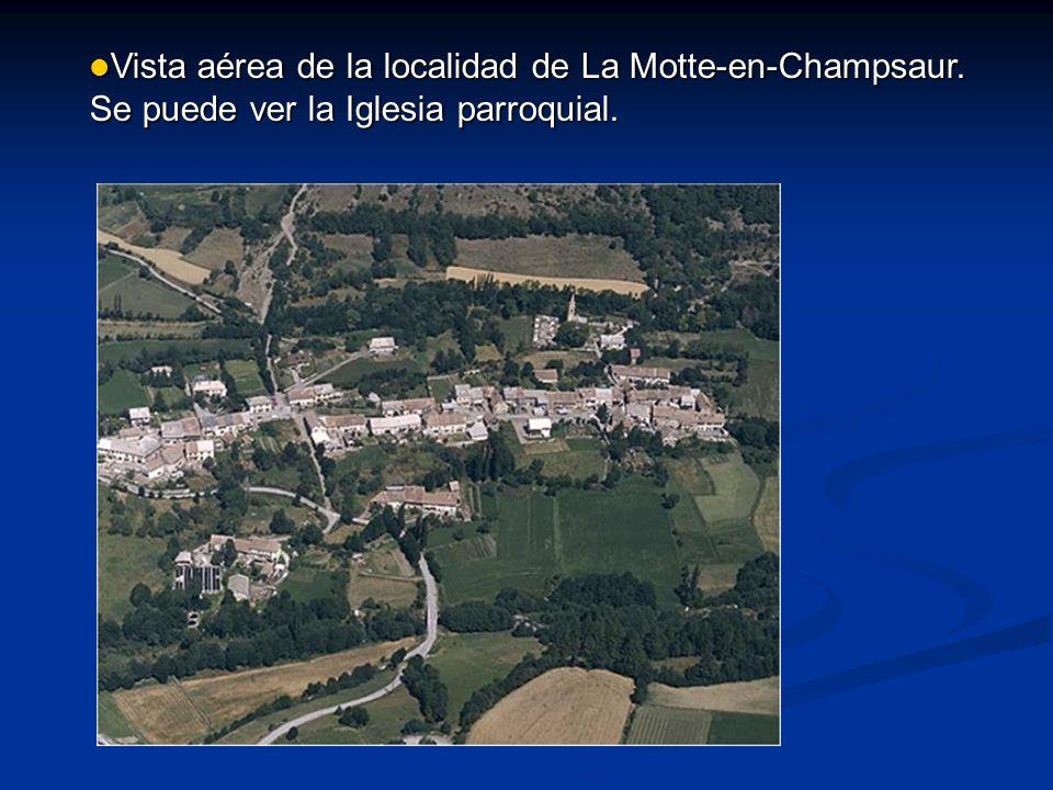 Vista aérea de la localidad de La Motte-en-Champsaur
