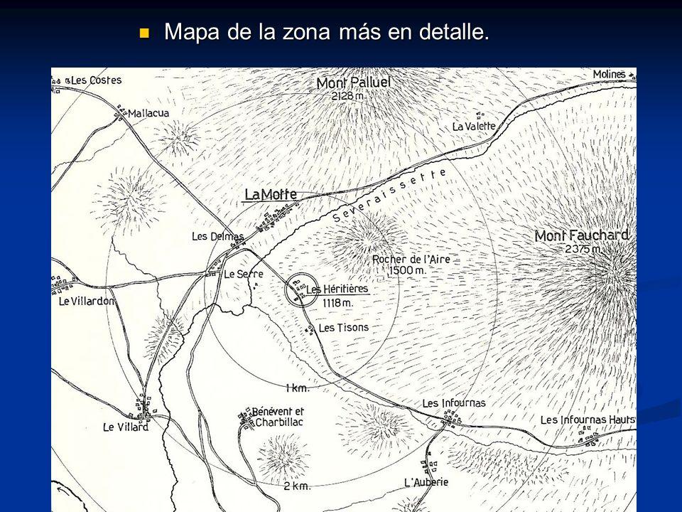 Mapa de la zona más en detalle.