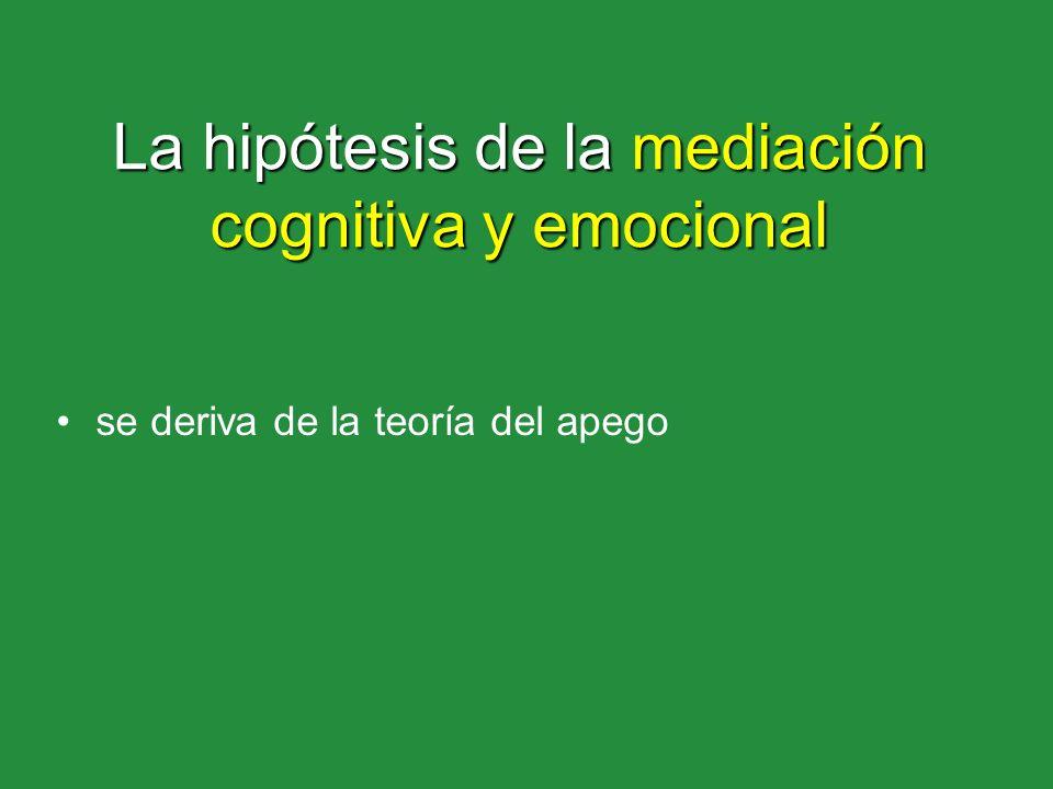 La hipótesis de la mediación cognitiva y emocional
