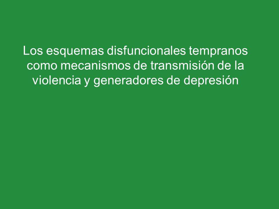 Los esquemas disfuncionales tempranos como mecanismos de transmisión de la violencia y generadores de depresión