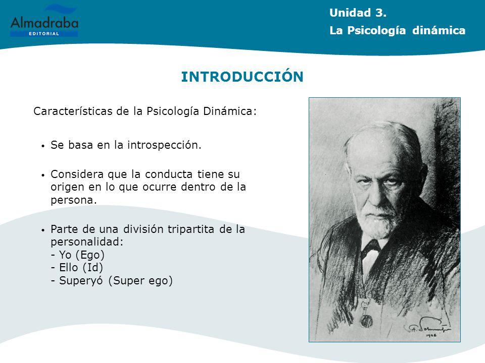 INTRODUCCIÓN Unidad 3. La Psicología dinámica