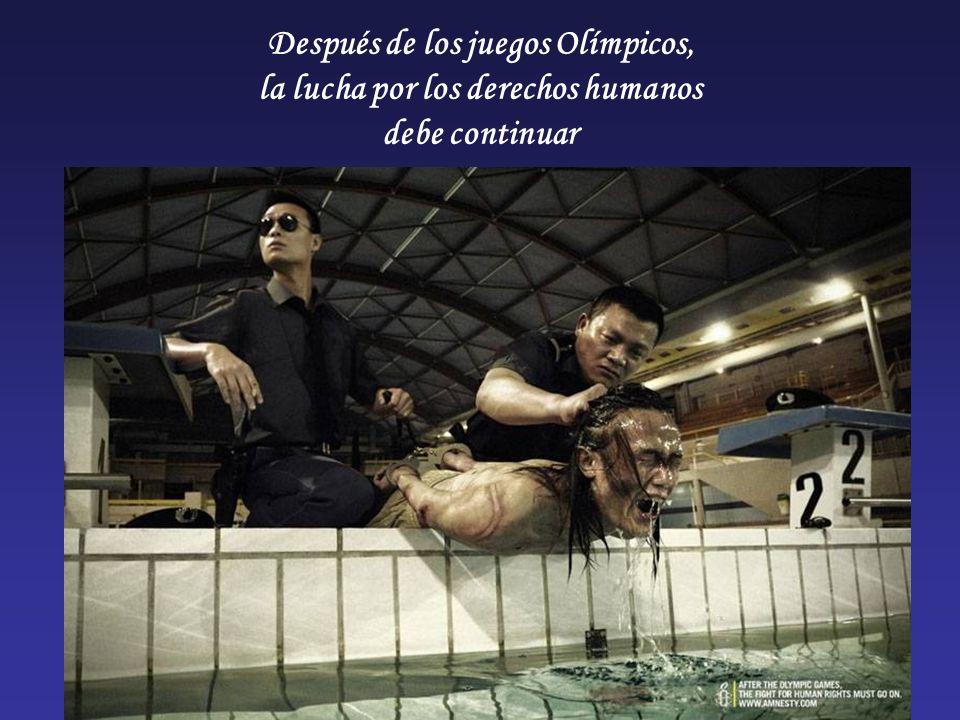 Después de los juegos Olímpicos, la lucha por los derechos humanos debe continuar