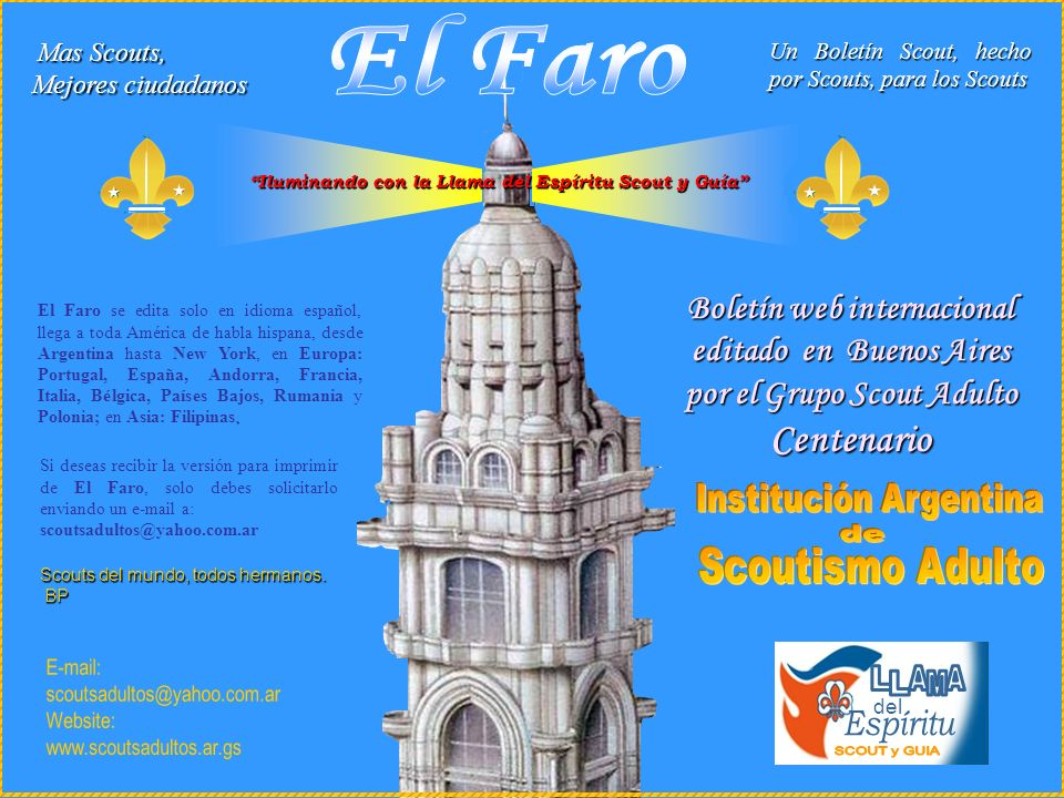 El Faro SCOUT y GUIA Espíritu L A M Boletín web internacional