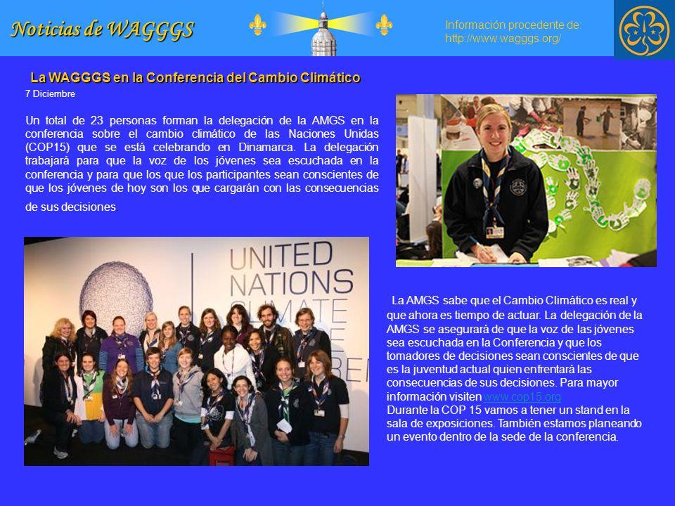 Noticias de WAGGGS La WAGGGS en la Conferencia del Cambio Climático