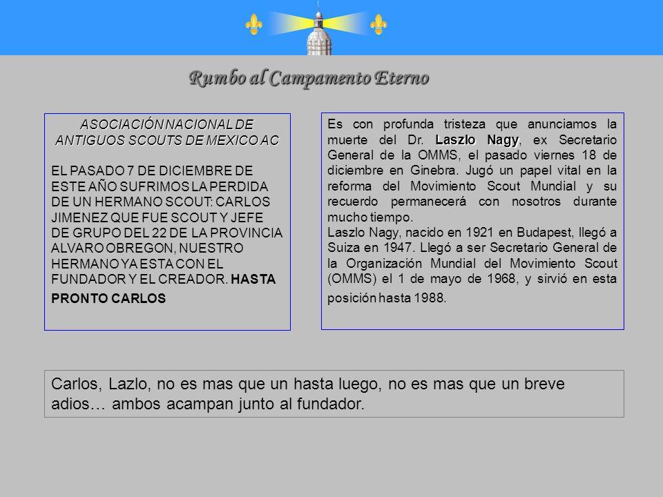 ASOCIACIÓN NACIONAL DE ANTIGUOS SCOUTS DE MEXICO AC