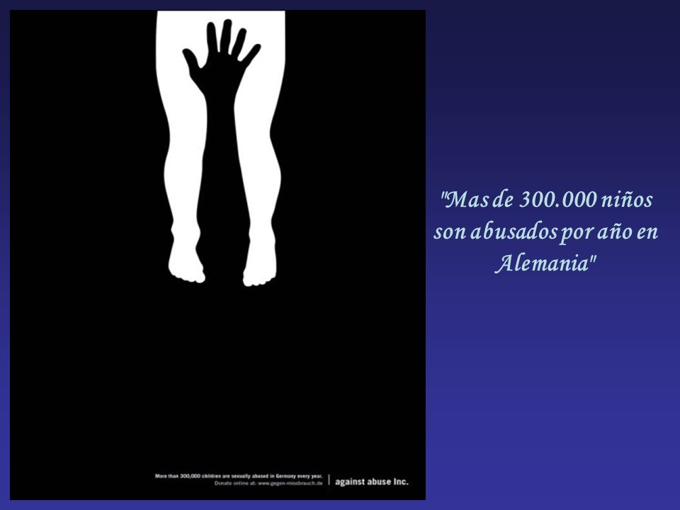 Mas de 300.000 niños son abusados por año en Alemania