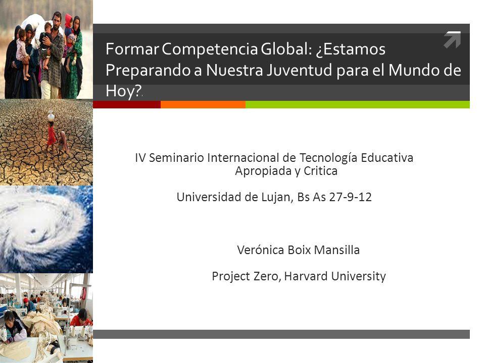 Formar Competencia Global: ¿Estamos Preparando a Nuestra Juventud para el Mundo de Hoy l