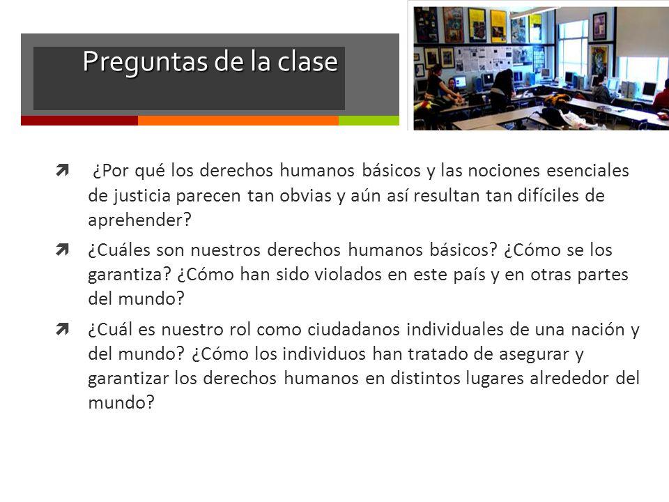 Preguntas de la clase