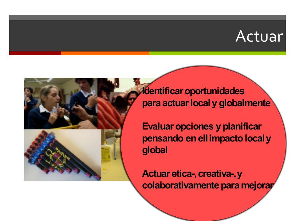 Actuar Identificar oportunidades para actuar local y globalmente