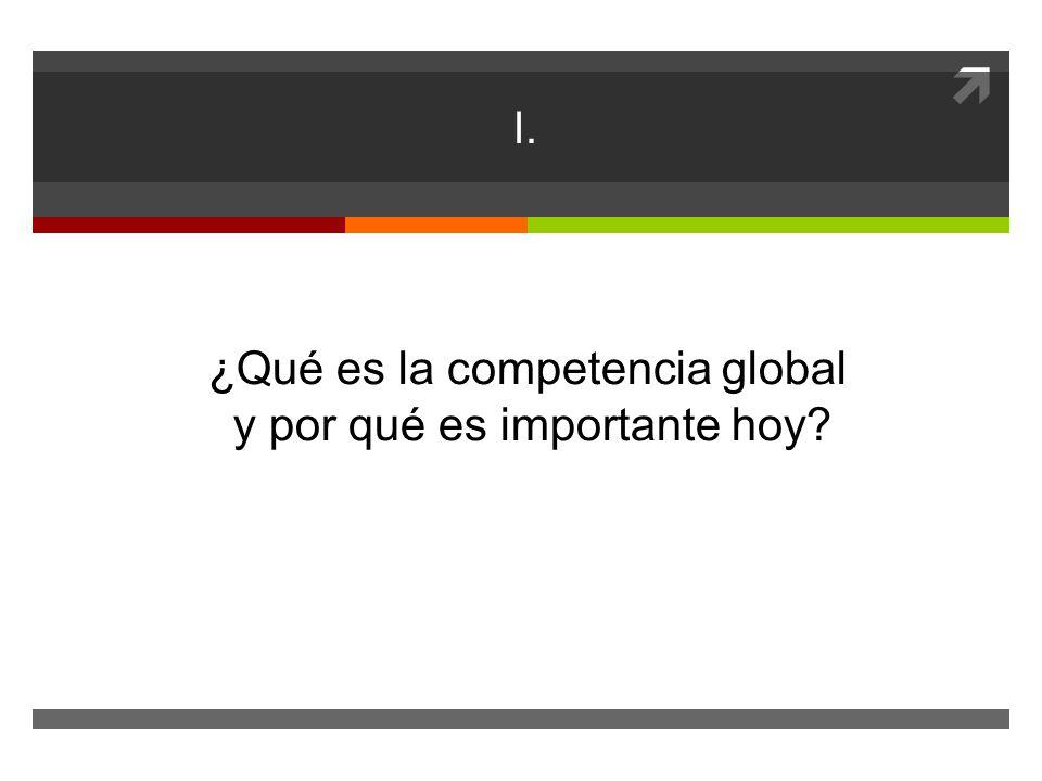 I. ¿Qué es la competencia global y por qué es importante hoy