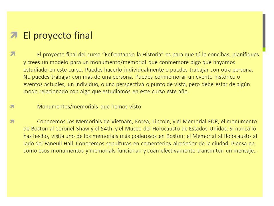 El proyecto final