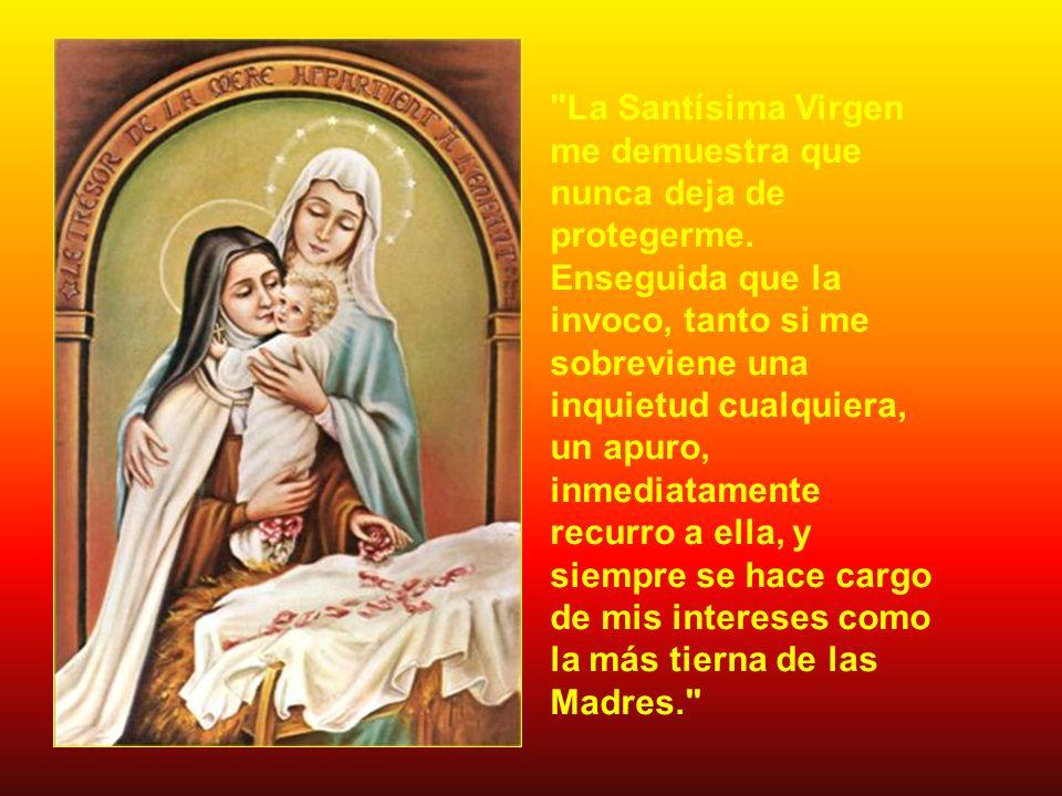 La Santísima Virgen me demuestra que nunca deja de protegerme