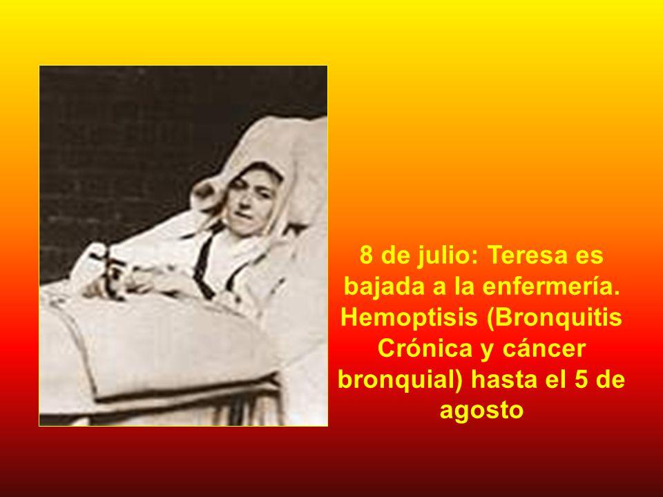 8 de julio: Teresa es bajada a la enfermería