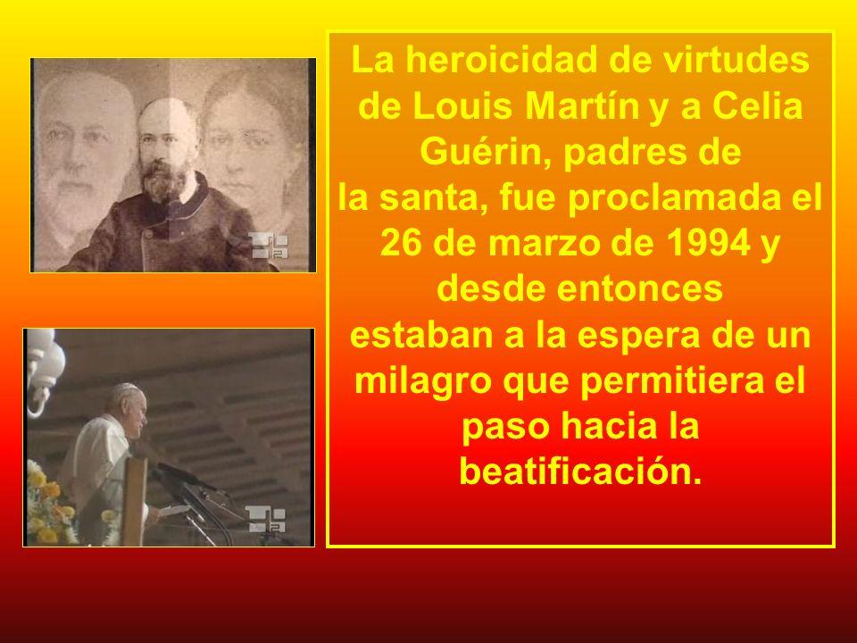La heroicidad de virtudes de Louis Martín y a Celia Guérin, padres de