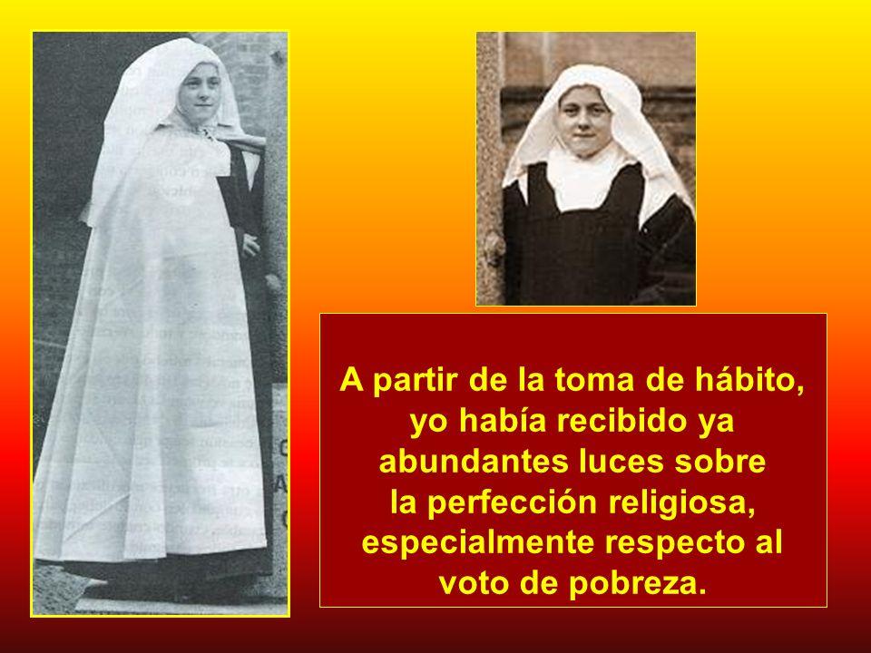 la perfección religiosa, especialmente respecto al voto de pobreza.