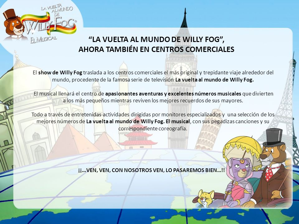 LA VUELTA AL MUNDO DE WILLY FOG ,