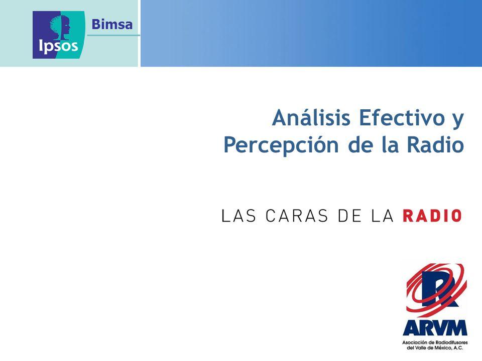 Análisis Efectivo y Percepción de la Radio