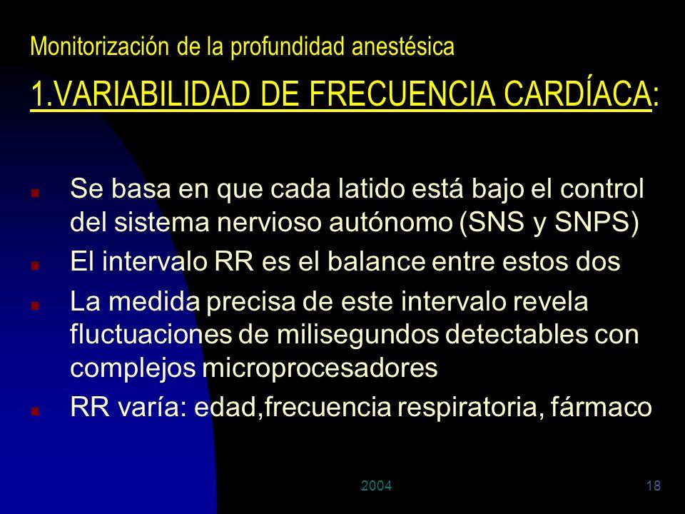 1.VARIABILIDAD DE FRECUENCIA CARDÍACA: