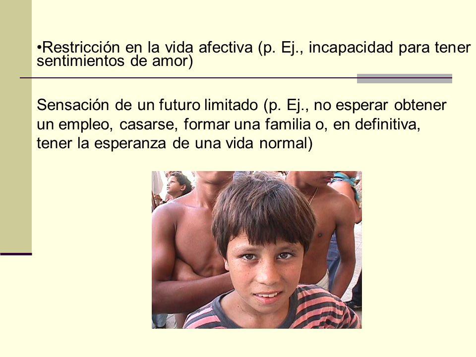 Restricción en la vida afectiva (p. Ej