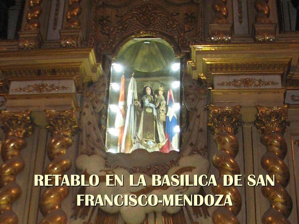 RETABLO EN LA BASILICA DE SAN FRANCISCO-MENDOZA
