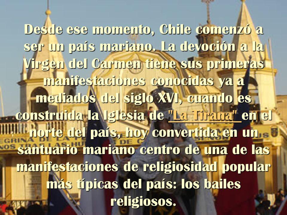 Desde ese momento, Chile comenzó a ser un país mariano