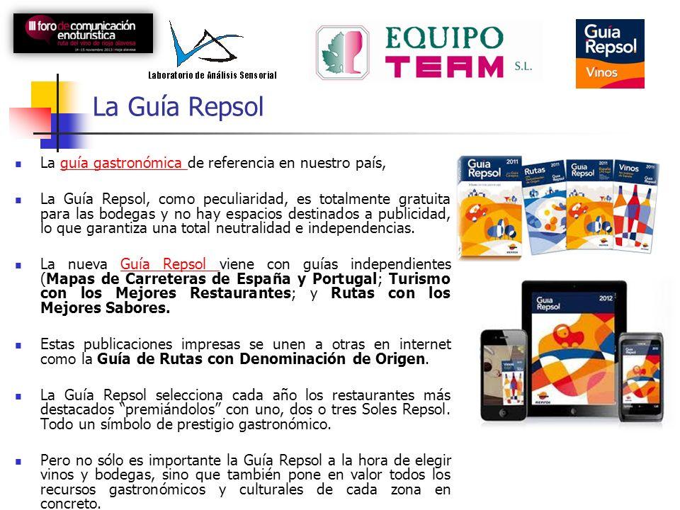 La Guía Repsol La guía gastronómica de referencia en nuestro país,